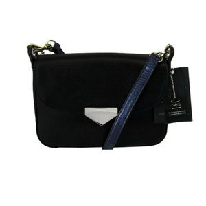 INC CONCEPTS Black Leather Crossbody Bag$70.00